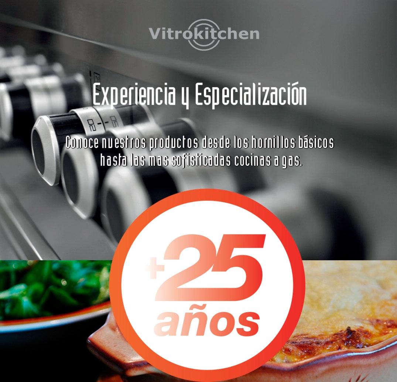 Vitrokitchen tiene mas de 25 años de experiencia en productos a gas