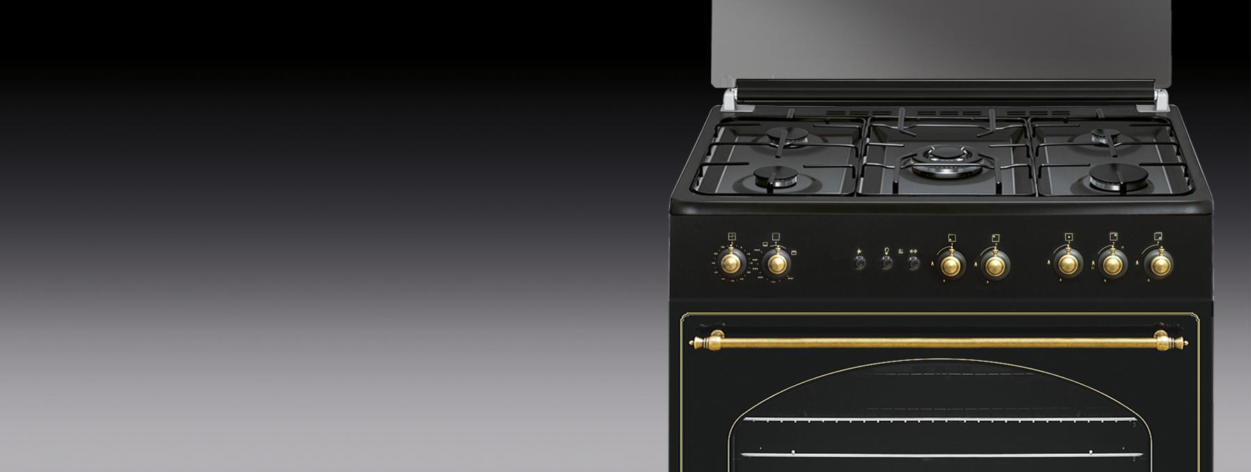 Cocina a gas con horno