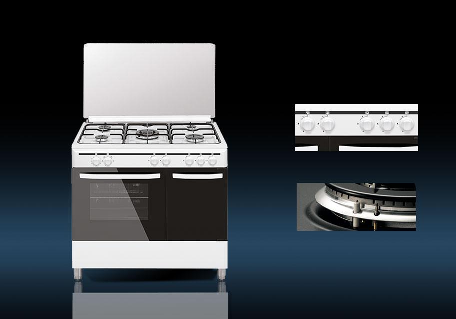 Cocina a gas elegance 90x60 vitrokitchen - Cocinas de gas con portabombonas ...