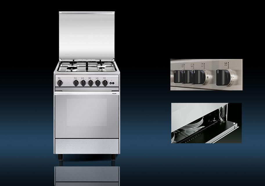 Cocina de gas con horno y 4 fogones nica 60x50 - Cocinas de gas natural con horno ...