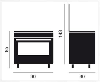 medidas cocinas vitrokitchen plcb9060i