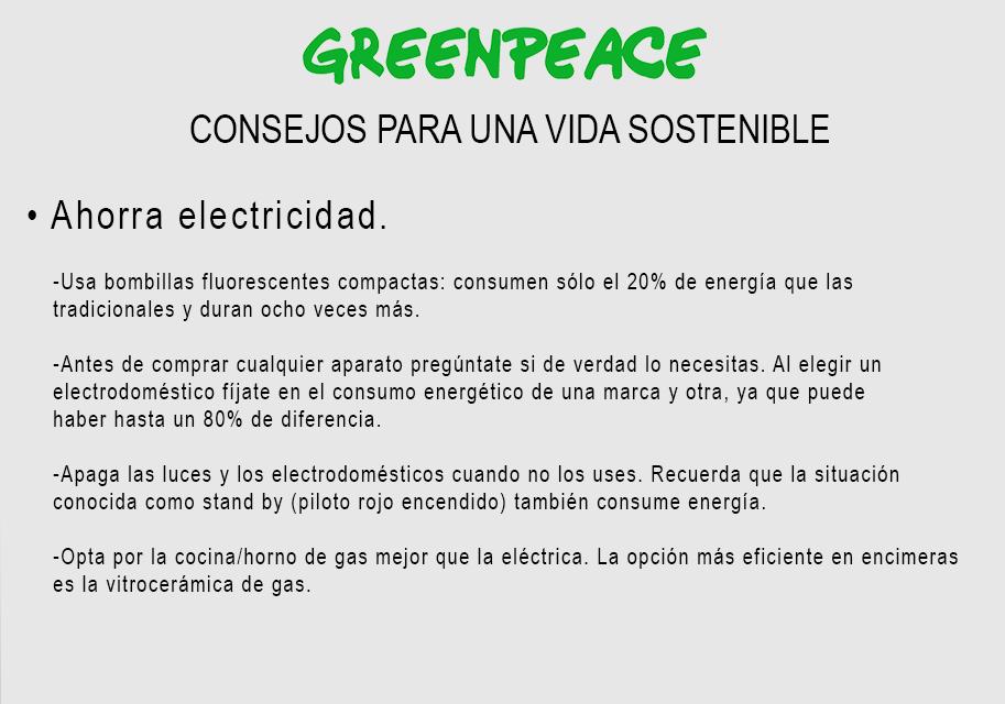 greenpeace consejos