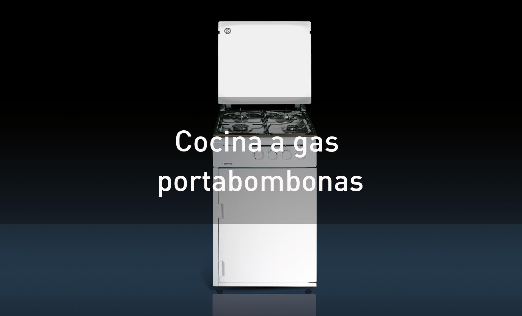Cocinas de gas con portabombonas, butano