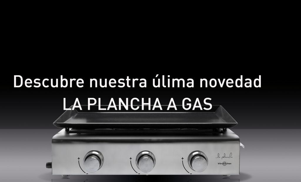 En el exterior cocina con planchas de gas