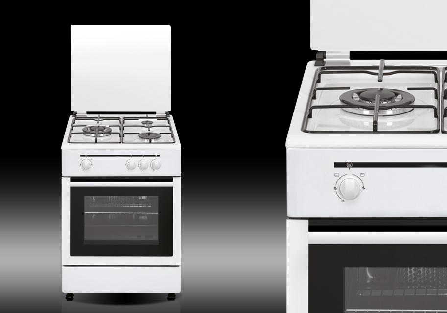 Cocina a gas con wok de alta potencia horno y grill a gas for Cocina de gas carrefour