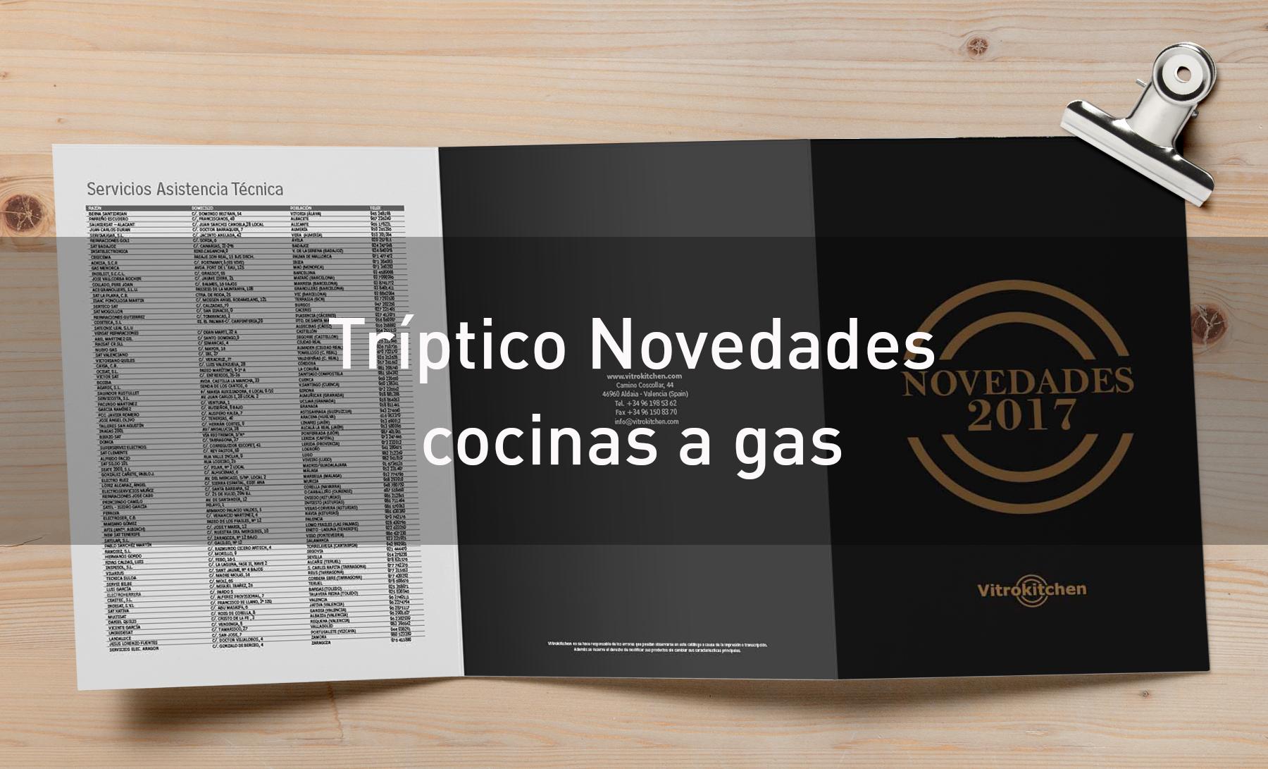 Triptico cocinas de gas novedades