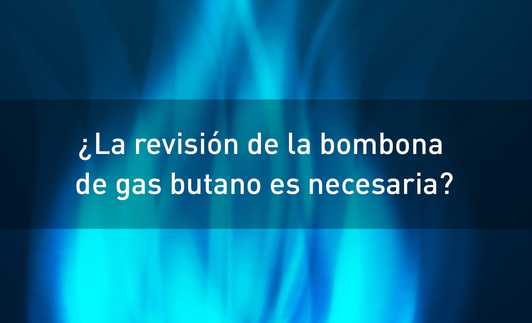 revision gas butano
