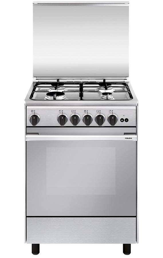 Cocina de gas con horno y 4 fogones nica 60x50 for Cocina encimera a gas