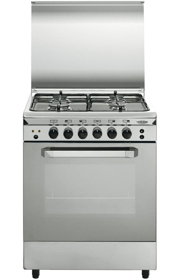 Cocina de gas con horno y 4 fogones nica 50x53 - Cocinas a gas natural ...