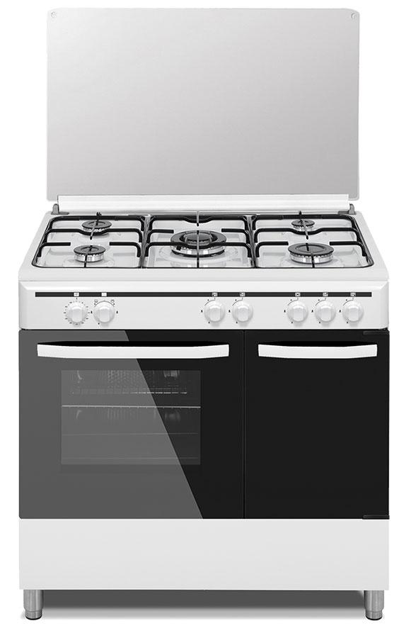 cocina nordica con horno y encimera
