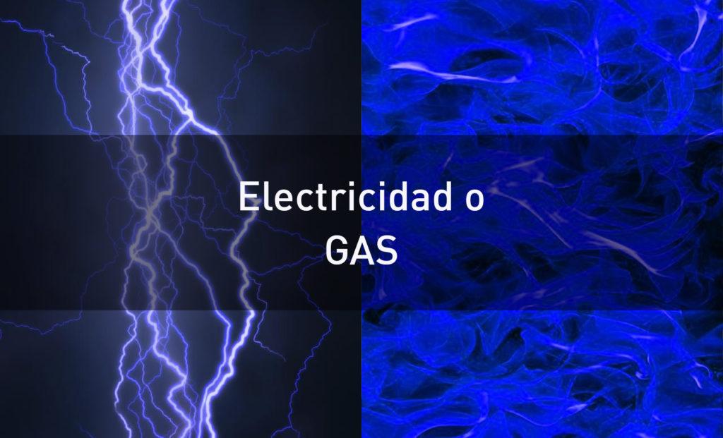 electricidad o gas